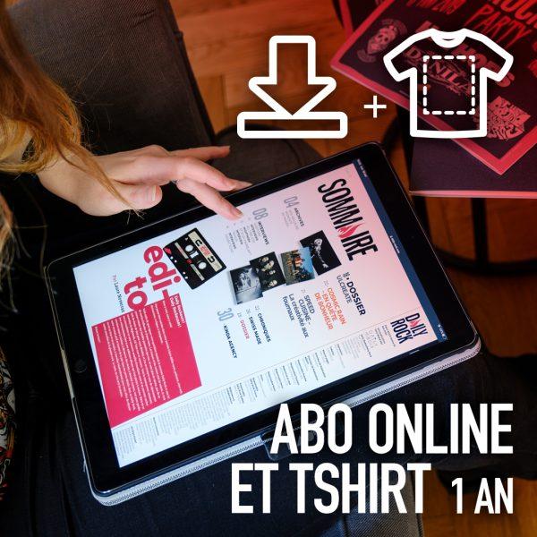 Abo online et T-shirt 1 an