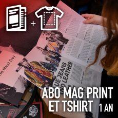 Abo mag print et T-shirt 1 an