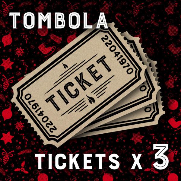 3 tickets de Tombola Daily Rock